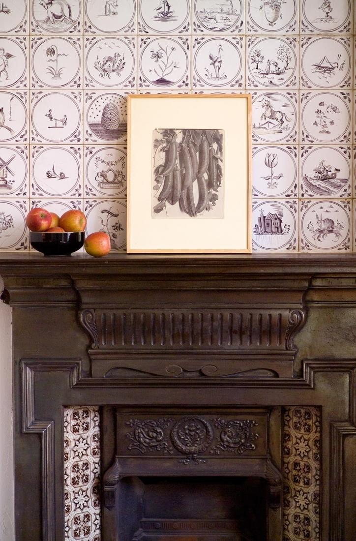 Kitchen fireplace. © Gomez Associates